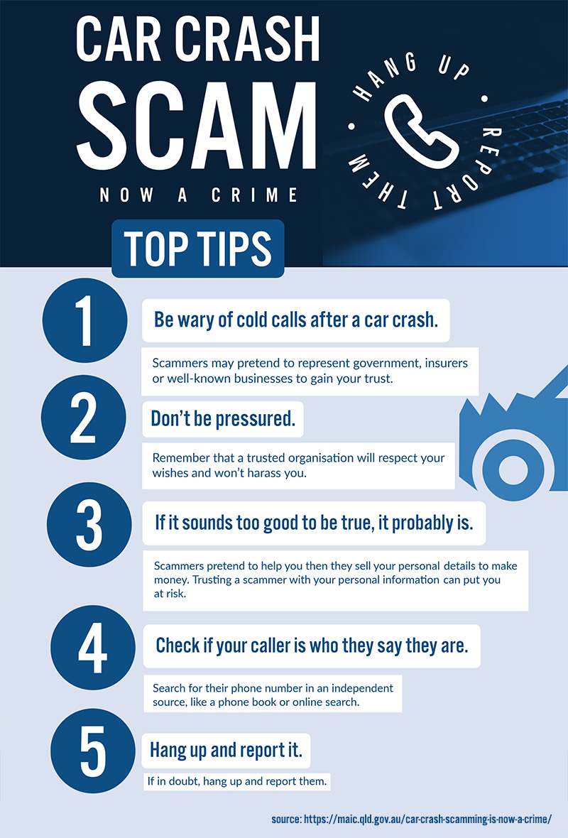 Tips: Car Crash Scamming a Crime