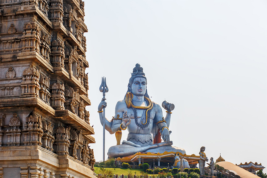 Lord Shiva Statue in Murudeshwar, Karnataka, India